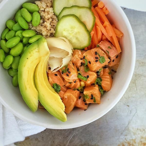 Quinoa Poke Bowl Salmon