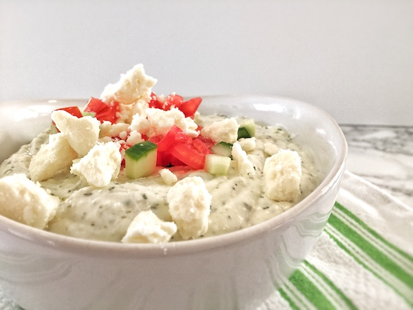 Whipped Greek Feta Dip Close Up