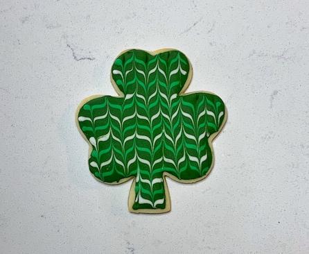 Zig Zag Shamrock Sugar Cookie