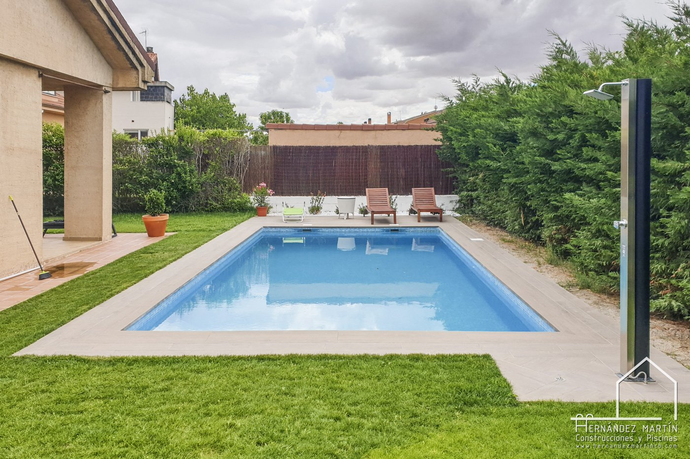 hernandez martin construcciones y piscinas experiencia obra piscina zamora salamanca imitacion madera