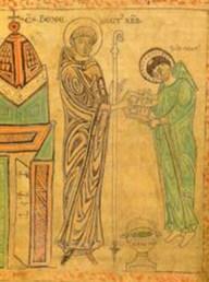 Saint Benoît de Nursie reçoit le futur saint Maur (abbaye du Saint-Sépulcre, Cambrai)
