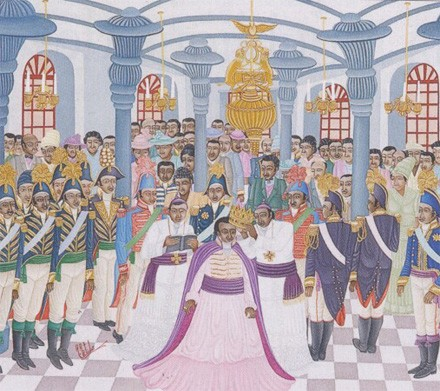 Couronnement de Jacques 1er Dessalines (peinture naïve haïtienne)