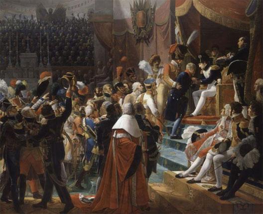 Première distribution de la Légion d'Honneur aux Invalides le 14 juillet 1804 (Jean-Baptiste Debret,, 1812 châteaux de Versailles et Trianon)