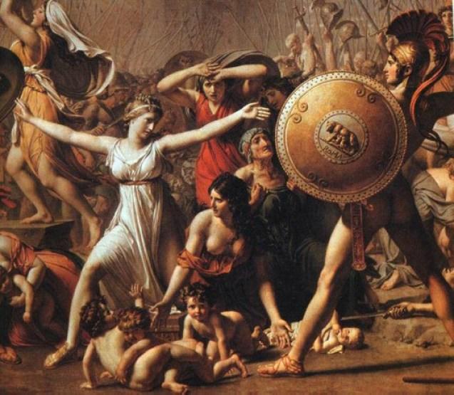 L'enlèvement des Sabines, détail (Louis David, 1748-1825, musée du Louvre