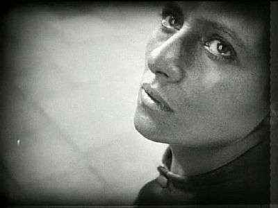 Maria Falconetti dans La Passion de Jeanne d'Arc (Carl Theodor Dreyer, 1928)