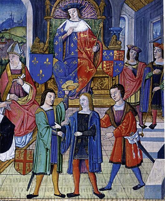Le procès de Jeanne d'Arc, miniature du XVe siècle, BNF