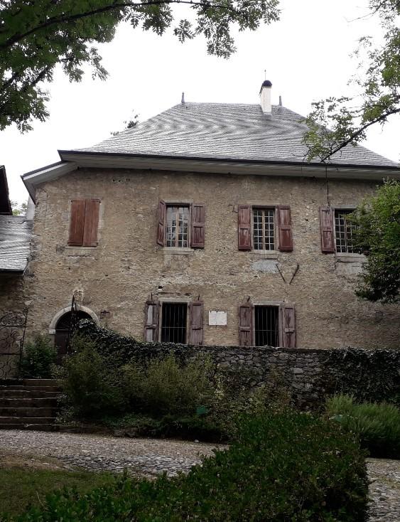 Les Charmettes, à Chambéry, ancienne demeure de Mme de Warens et JJ Rousseau (photo : André Larané)