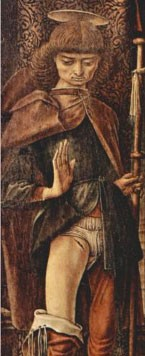 Carlo Crivelli, Saint Roch, 1490, Londres, Wallace Collection