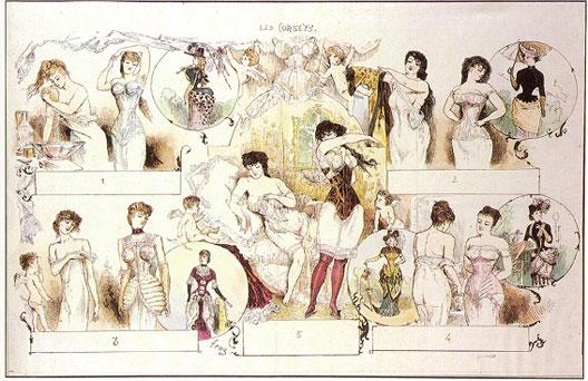 Johannes Christian Ludigvid Riedel, Gravure dénonçant les effets du corset, 1838
