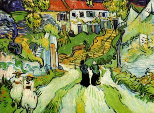 Vincent Van Gogh, Rue de village à Auvers avec escalier et personnages, 1890, The Saint Louis Art Museum, St. Louis, Missouri, USA