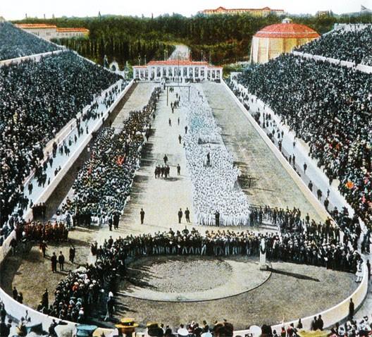 Ouverture des Jeux Olympiques à Athènes le 6 avril 1896