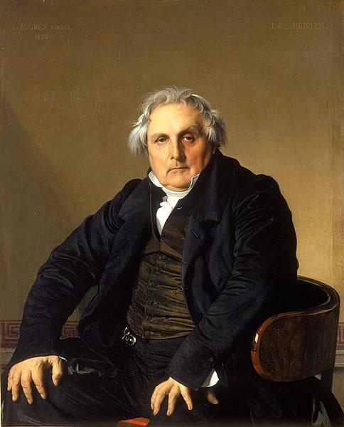 Portrait de Monsieur Bertin (Jean-Auguste-Dominique Ingres, 1832, Louvre-Lens)