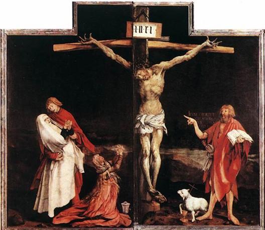 Matthias Grünewald, Retable d'Issenheim (détail), 1516, Colmar, musée Unterlinden