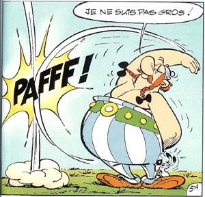 Obélix, image tirée de l'album Astérix de Goscinny et Uderzo (DR)