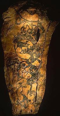 Tatouage d'une momie scythe, Pazyryck, Russie
