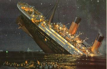 naufrage du Titanic gravure d'époque