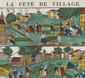 La Fête de village, art populaire avant 1837, Paris, Musée des Civilisations de l'Europe et de la Méditerranée