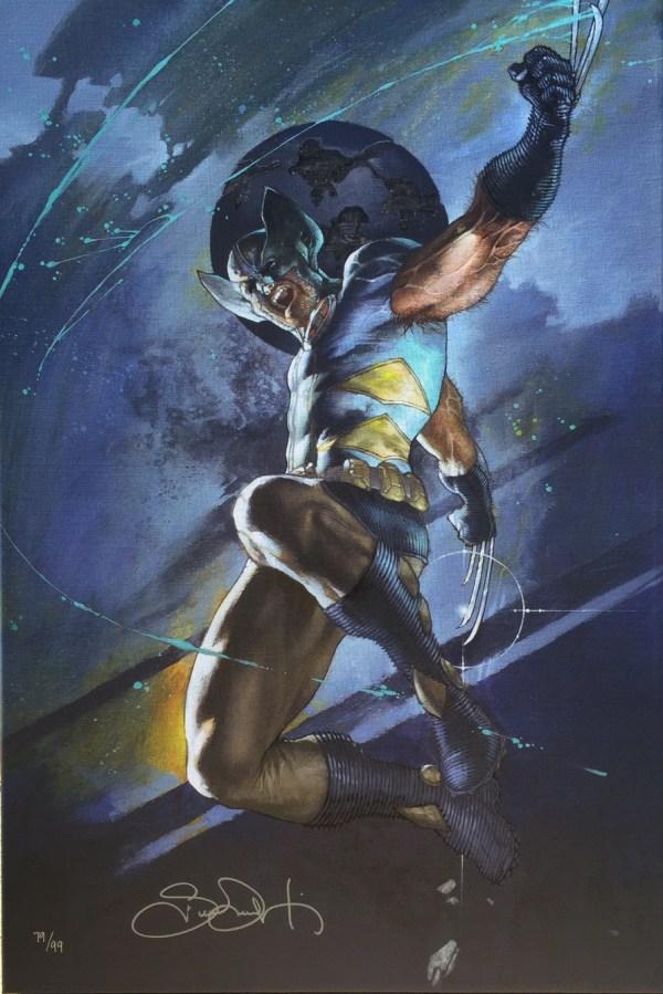 Wolverine Uncanny X-men #539 Canvas Signed Simone Bianchi