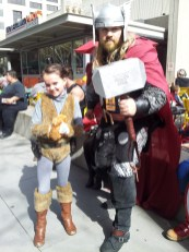 Thor wanted his picture with Squirrel Girl