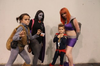 The girls love Teen Titans, so finding Raven and Starfire was a big deal.