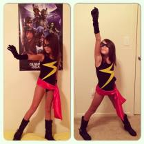 My daughter Audrey loves comic books! She loves to read GOTG and Captain Marvel. Here's a picture of her as Ms. Marvel. My wife and I told her about your girls and she is happy that there are more girls her age out there that are like her.