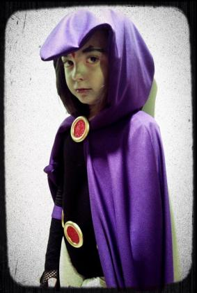 AWESOME! Here's my little hero last year as Raven.