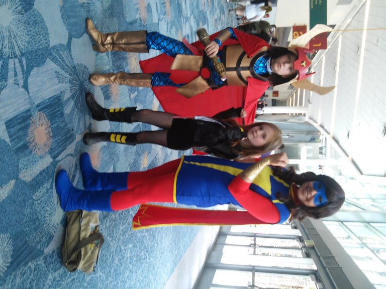 Big Barda, Black Canary and Ms. Marvel