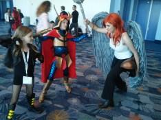 Black Canary, Big Barda and Hawkgirl