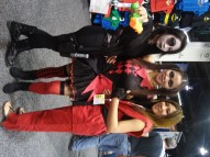 Domino, Harley Quinn and Ken from Street Fighter