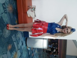 Captain America - She made the entire dress out of duct tape