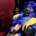 Deadpool Terrorizes Children on Halloween