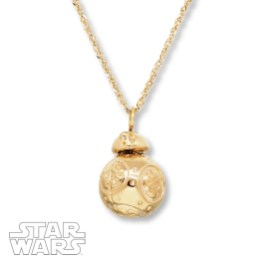 Star Wars Necklace Spinning BB-8 10K Yellow Gold - Kay Jewelers