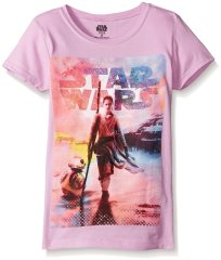 Star Wars Girls' Rey and BB-8 Walking Girls Short Sleeve Graphic Tee - Amazon