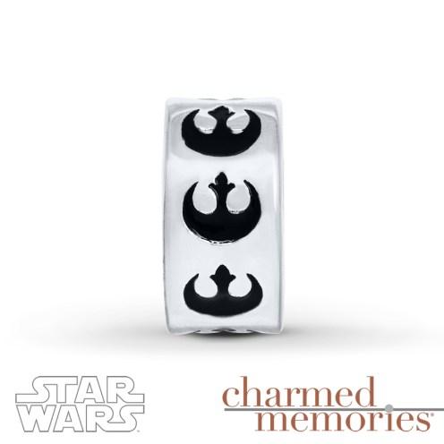 Charmed Memories Star Wars Rebel Alliance Sterling Silver Charm - Kay Jewelers