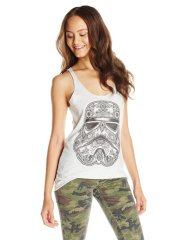 Star Wars Juniors' Henna Trooper Tattoo Art Racerback Graphic Tank Top - Amazon