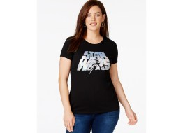 Plus Size Star Wars Luke and Leia Graphic T-Shirt from Hybrid - Macy's