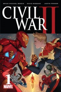 Civil War II promo image from Marvel Comics