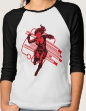 Black Widow Baseball Tee