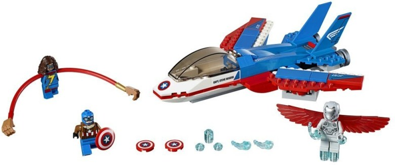 LEGO Set 76076: Captain America Jet Pursuit