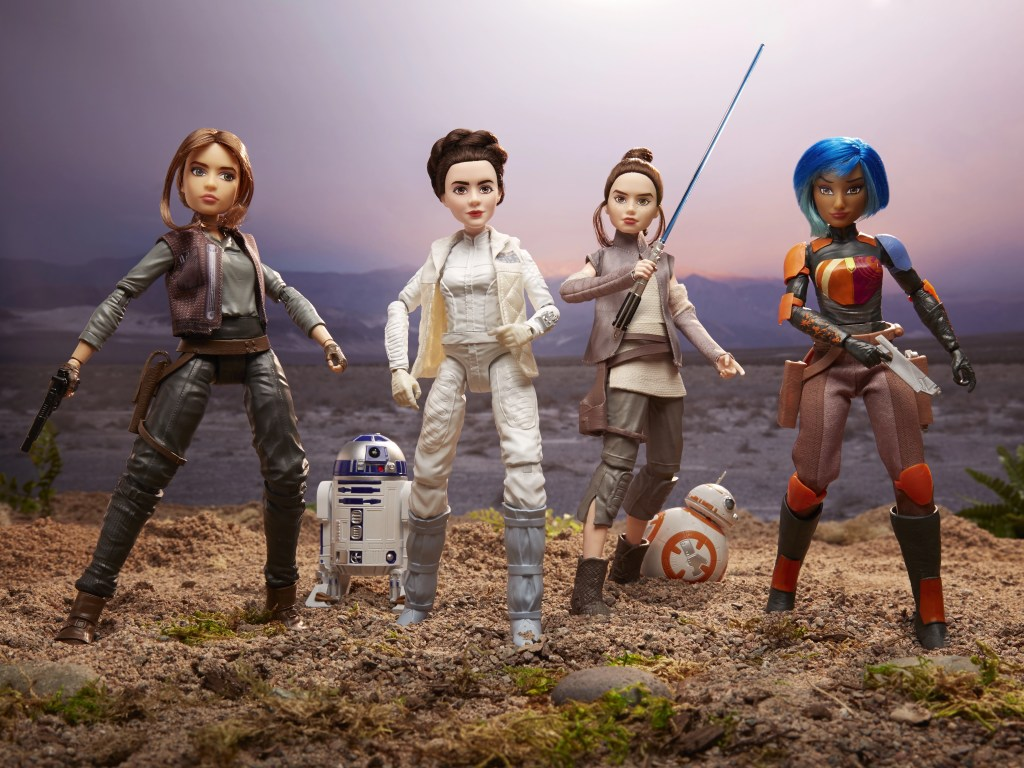 Jyn Esro, Leia Organa, Rey, Sabine Wren - Star Wars Forces of Destiny