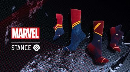 Captain Marvel Socks - Stance MSRP: $20 per pair
