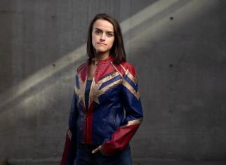 Captain Marvel Jacket - HerUniverse - MSRP: $49.99