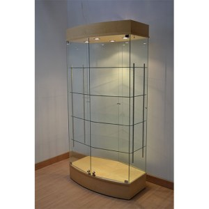 curved display cabinet