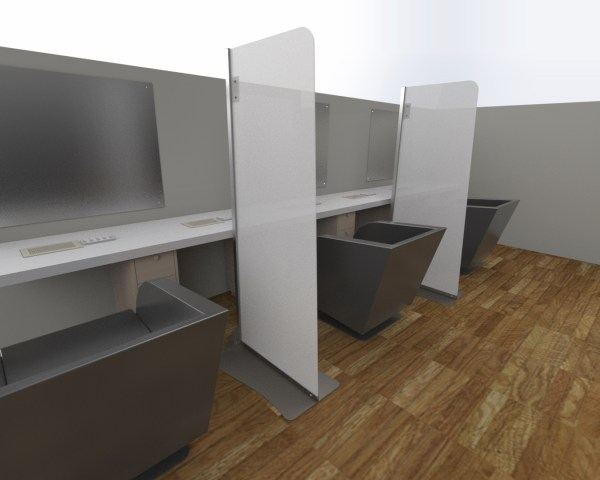 Salon Screen Divider Panel