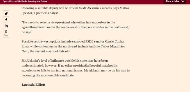 cassiofinancialtimes - DESTAQUE INTERNACIONAL: Revista Financial Times diz que Cássio é opção na vice de Alckmin