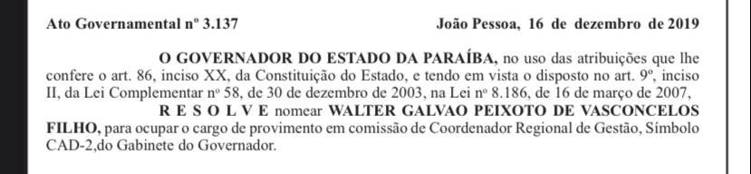76fdd69e d2a6 4aa5 a2e7 e9b9fd8e6fac - DE SAÍDA: Walter Galvão deixa gestão de Márcia Lucena às vésperas de operação da PF