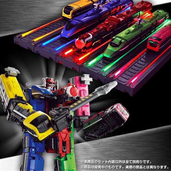 Super Sentai Artisan Ressha Sentai Toqger Hikari no Rosen Rainbow Line Set
