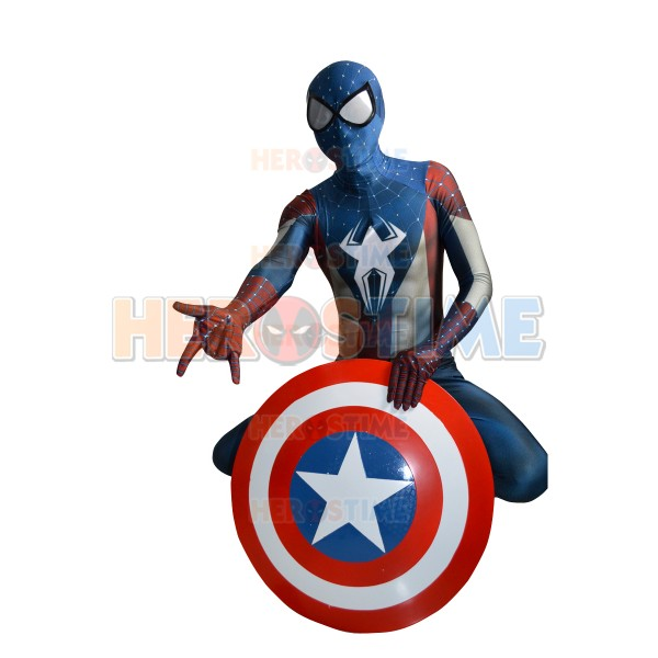 captain america spider man