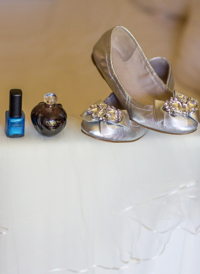 My Something Olde (Perfume), Something New (Shoes), Something Borrowed (Veil), Something Blue (Nail Polish).