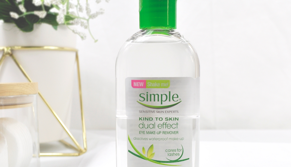 simple dual effect eye makeup remover